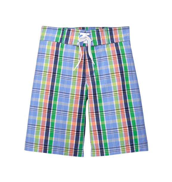 Plaid Swim Trunk