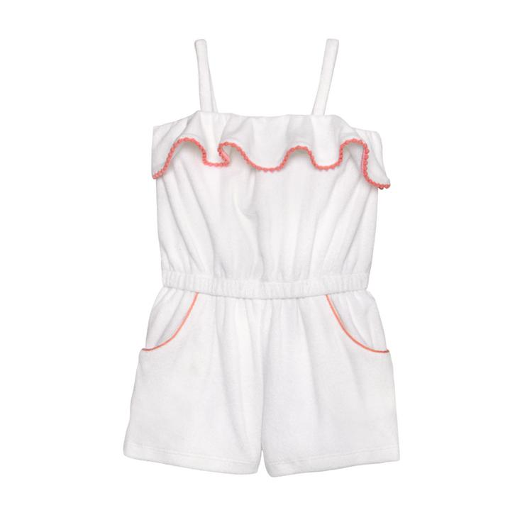 24c92e42e77a Girl White Ruffle Terry Romper by Janie and Jack