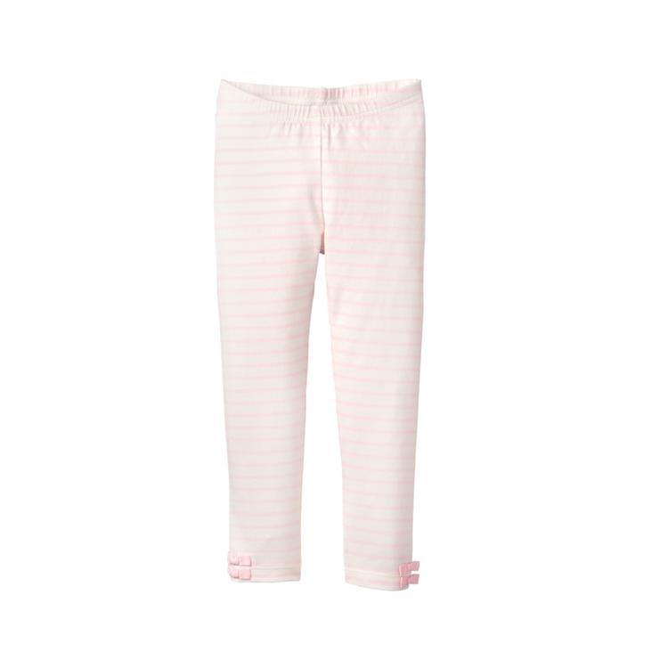 9244e1e06cf3d Girl Petal Pink Stripe Striped Bow Legging by Janie and Jack