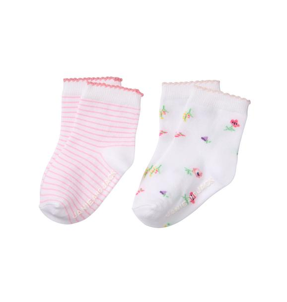Floral & Striped Sock 2-Pack