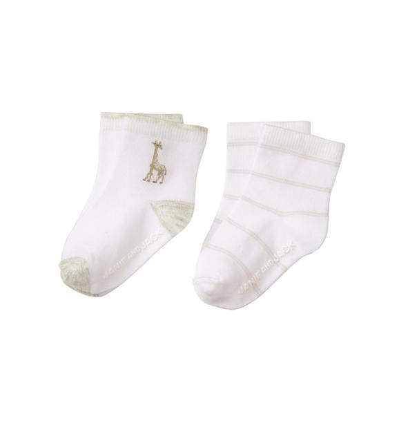 Giraffe & Stripe Sock 2-Pack