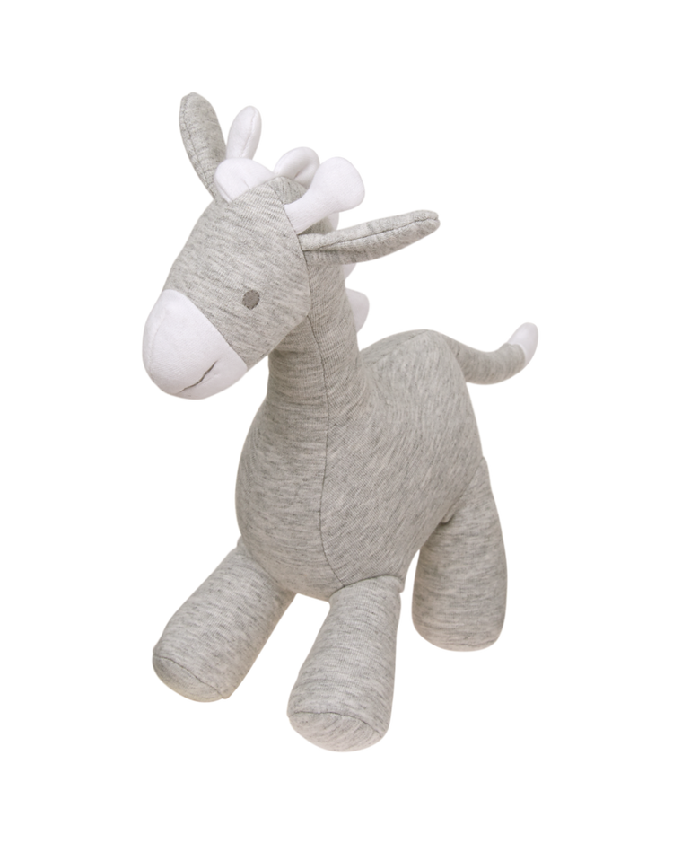 Accessories Heather Grey Plush Giraffe Rattle By Janie And Jack