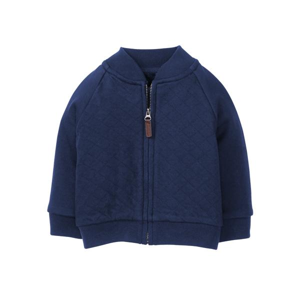Newborn Navy Quilted Bomber Jacket By Janie And Jack
