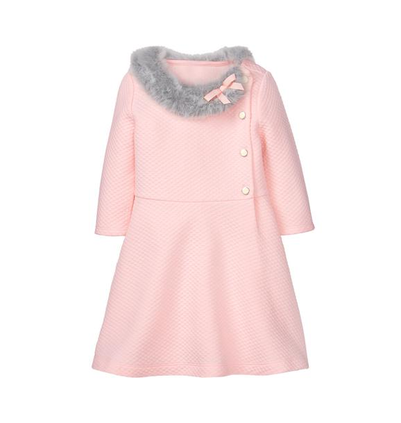 Faux Fur Quilted Dress