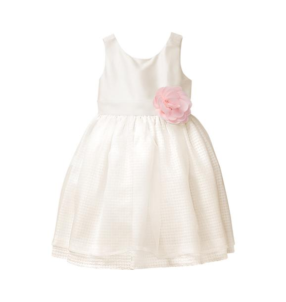 Silk Rosette Dress