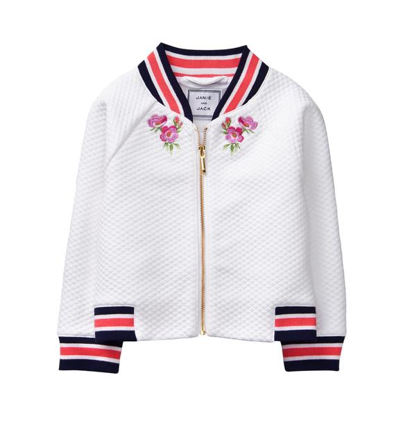 Embroidered Bomber Jacket