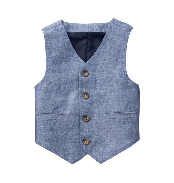 Chambray Suit Vest