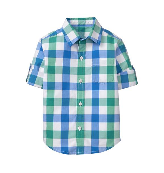 Gingham Roll-Cuff Shirt