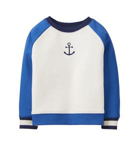Colorblock Anchor Pullover