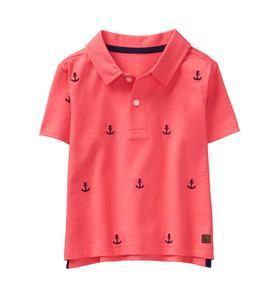 Embroidered Anchor Polo