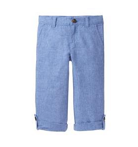 Roll-Cuff Chambray Pant