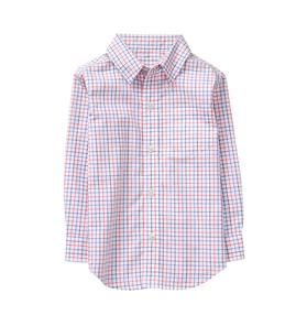 Windowpane Poplin Shirt