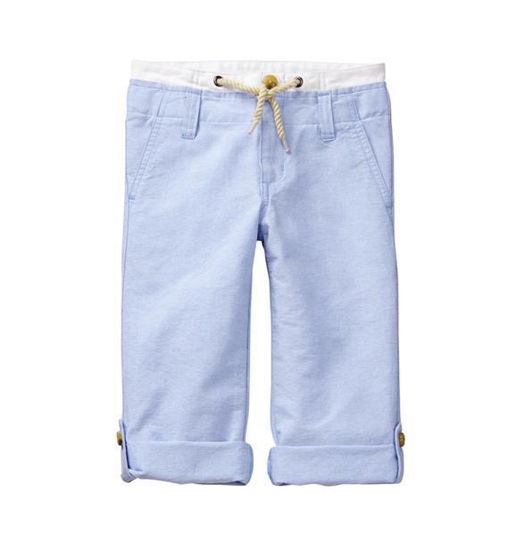 Roll-Cuff Oxford Pant