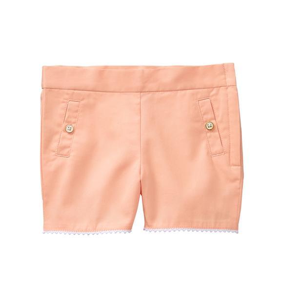 Twill Pom-Pom Short