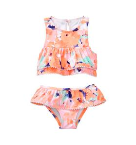 Watercolor Floral 2-Piece Swimsuit