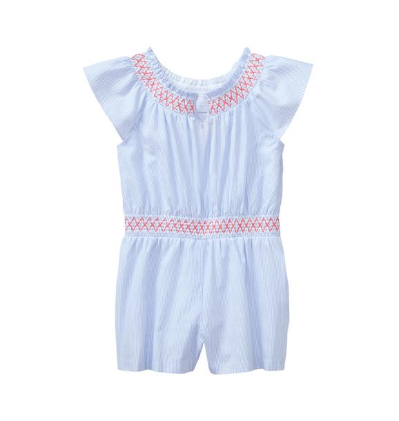 Striped Smocked Romper