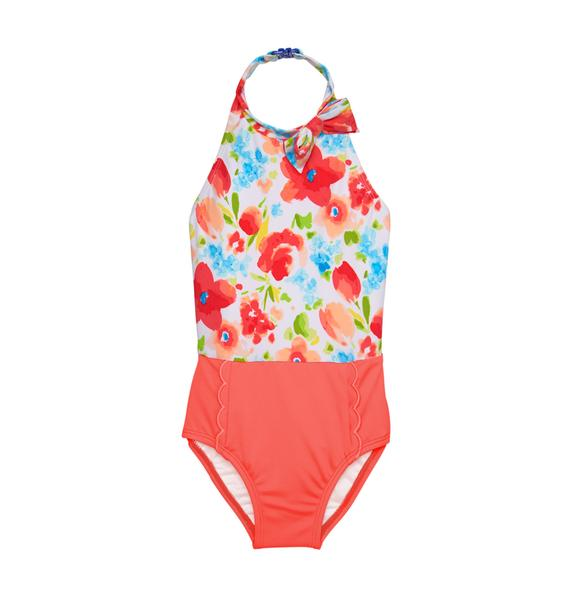 Halter Floral Swimsuit