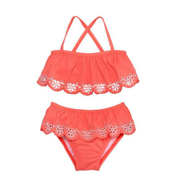 Eyelet 2-Piece Swimsuit
