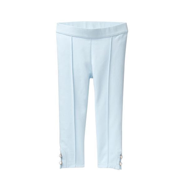 Button-Cuff Ponte Pant