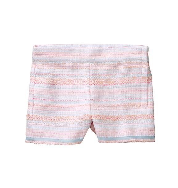 Striped Bouclé Short