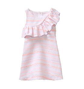 Bouclé Ruffle Dress
