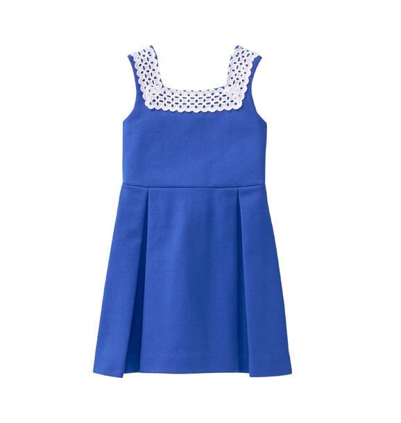 Eyelet Trim Ponte Dress