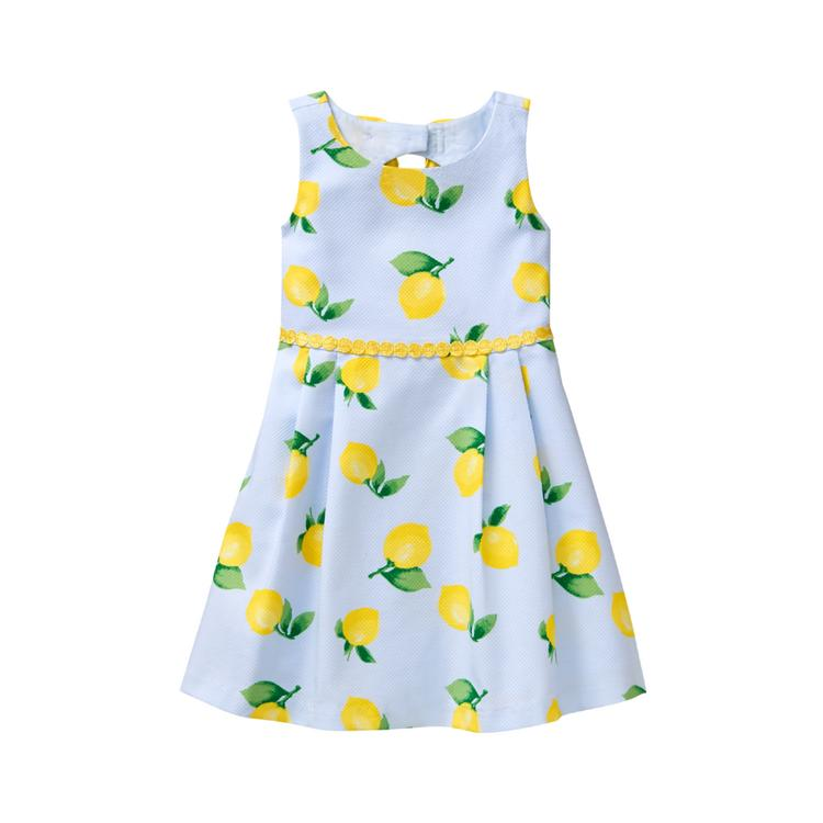 c31392f5eecb7e Girl Sky Blue Lemon Print Lemon Dress by Janie and Jack