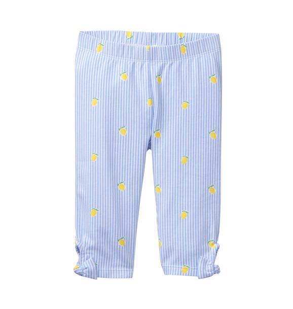 Striped Lemon Bow Legging