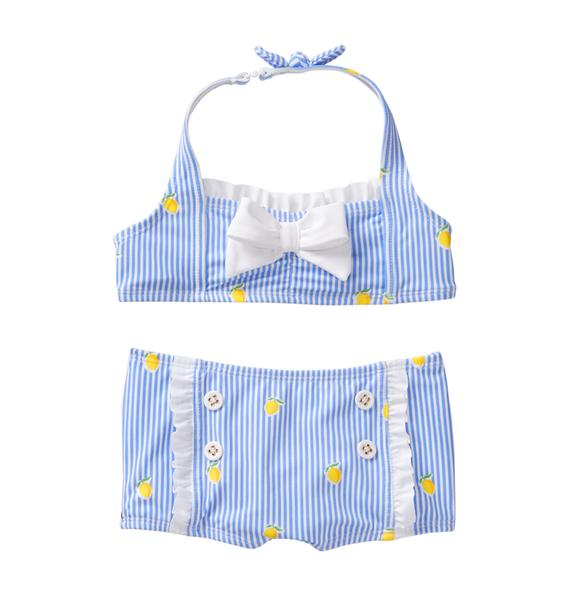 Striped Lemon 2-Piece Swimsuit