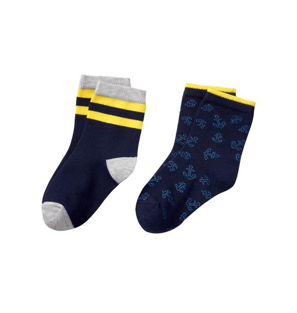 Anchor & Stripe Sock 2-Pack