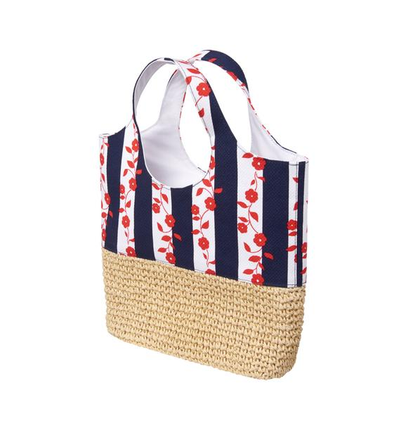 Floral Striped Tote