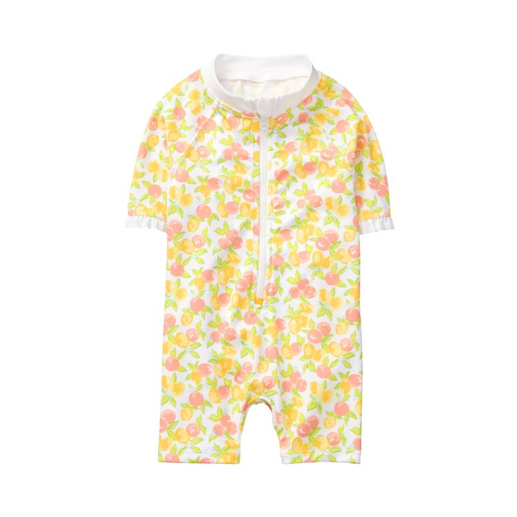 e58fc43a9bbf3d Sale Sunshine Lemon Print Lemon Rash Guard Swimsuit by Janie and Jack