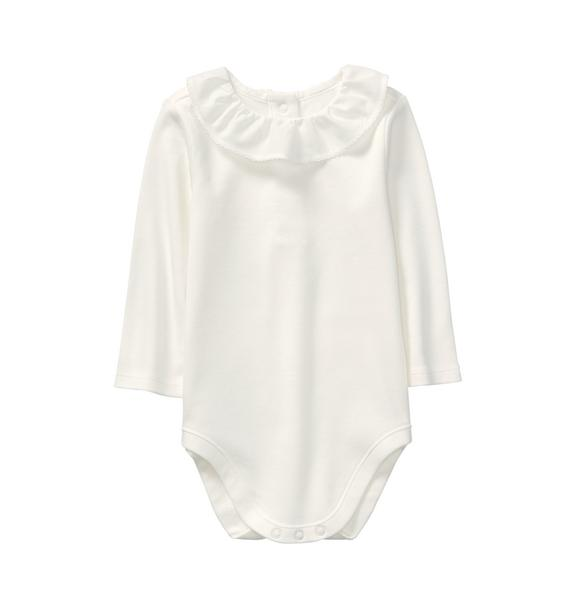 Ruffle Collar Bodysuit