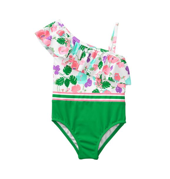 Floral Colorblock Swimsuit