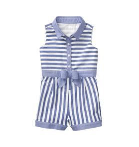 Striped Oxford Romper