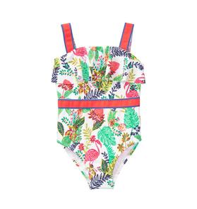 Tropical Ruffle Swimsuit