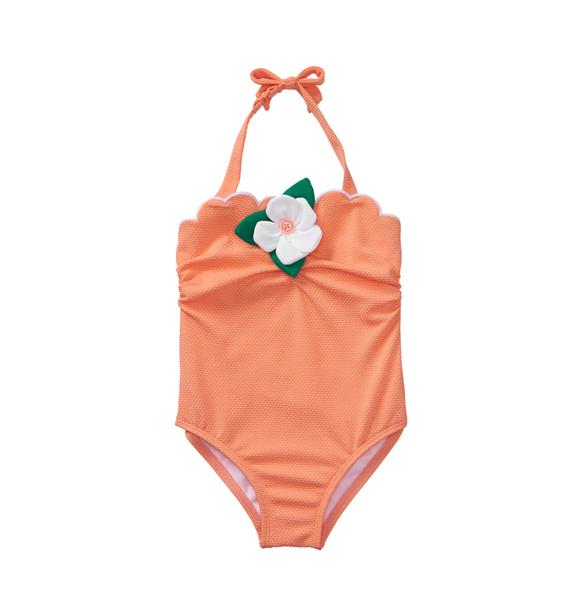 Textured Bloom Swimsuit