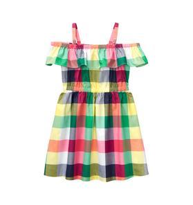 Plaid Off-The-Shoulder Dress