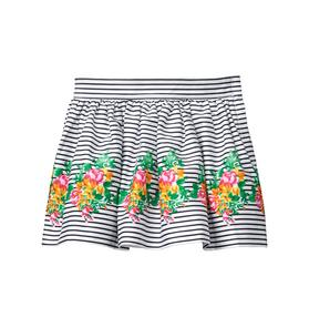 Striped Floral Border Skirt