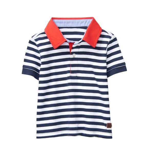 Striped Colorblock Polo