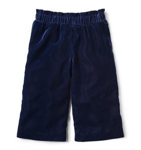 Velvet Wide-Leg Pant