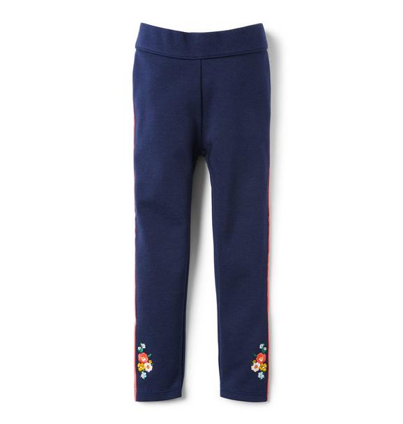 Embroidered Ponte Pant