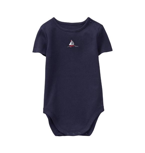 Embroidered Sailboat Bodysuit
