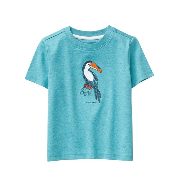 Embroidered Toucan Tee