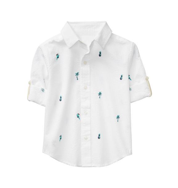 Seersucker Tropical Shirt