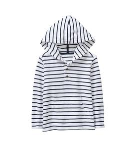 Striped Hooded Pullover