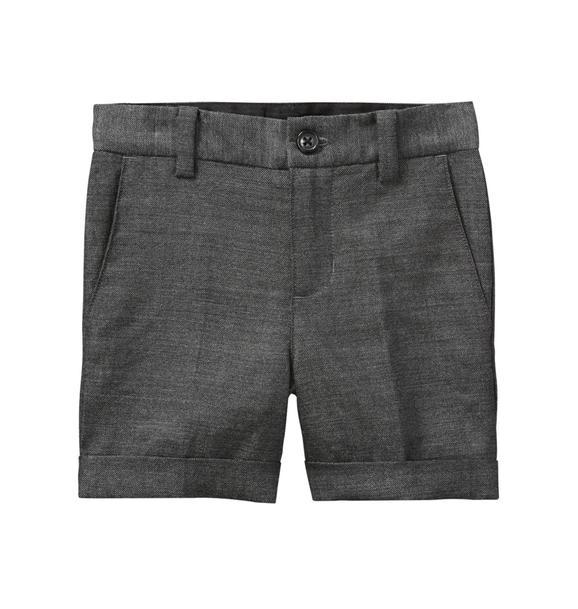 Wool Herringbone Short