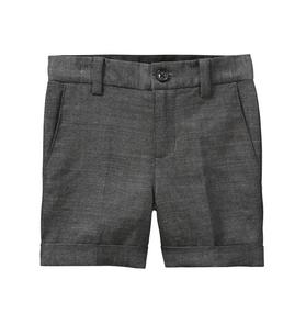 Wool Herringbone Short