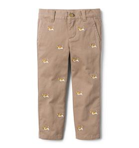 Embroidered Dog Pant