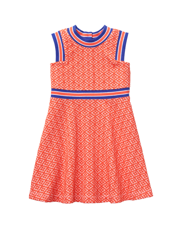 Girl Grapefruit Geo Print Geo Jacquard Dress by Janie and Jack